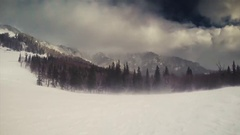 Snow in the Wind of a Storm Stock Footage