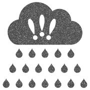 Thunderstorm Rain Cloud Grainy Texture Icon Stock Illustration