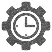 Time Setup Gear Grainy Texture Icon Stock Illustration