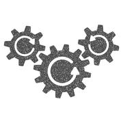 Transmission Wheels Rotation Grainy Texture Icon Stock Illustration