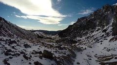 Snowy Mountain Valley Stock Footage