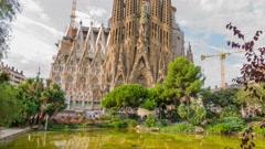 La Sagrada Familia Barcelona Spain Stock Footage