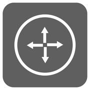 Expand Arrows Flat Squared Glyph Icon Stock Illustration