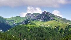 Spectacular Mountain Landscape Stock Footage