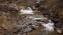 River in the mountains, Russia, Kabardino-Balkaria late autumn Stock Footage