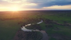 River panorama. Turn right. 4k 30fps Stock Footage