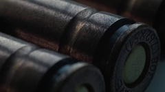 Close-up, the ammo for the sniper rifle Stock Footage