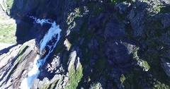 Aerial view of trollstigen road, famous trourism road in norway Stock Footage