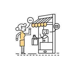 Online shopping and consumerism concept. Stock Illustration