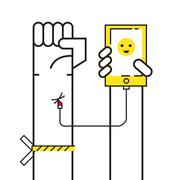 Smartphone Addiction concept. Stock Illustration
