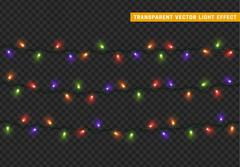 Garlands, Christmas decorations lights effects. Piirros