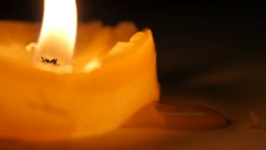 Candle flame macro Stock Footage