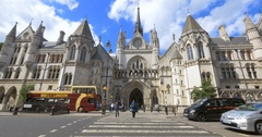 Royal Courts of Justice (Law Courts), London, England Stock Footage