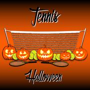 Tennis and Halloween Stock Illustration