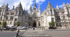 Royal Courts of Justice (Law Courts), The Strand, London, England Stock Footage