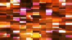 Twinkling Horizontal Small Squared Hi-Tech Bars, Golden, Abstract, Loop, 4K Stock Footage