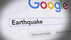 Google Search Engine - Search For  Earthquake Stock Footage