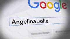 Google Search Engine - Search For Angelina Jolie Stock Footage