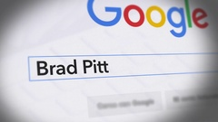 Google Search Engine - Search For Brad Pitt Stock Footage