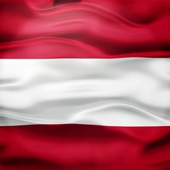 Realistic Seamless Loop Flag of Austria Waving In The Wind. Stock Footage