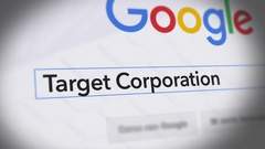 Google Search Engine - Search For Target Corporation Stock Footage