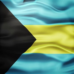 Realistic Seamless Loop Flag of Bahamas Waving In The Wind. Stock Footage