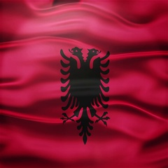 Realistic Seamless Loop Flag of Albania Waving In The Wind. Stock Footage