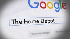 Google Search Engine - Search For The Home Depot Stock Footage