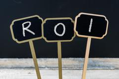 Business acronym ROI as Return On Investment Stock Photos