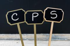 Business acronym CPS as Creative Problem Solving Stock Photos