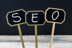 Business acronym SEO as Search Engine Optimization Stock Photos