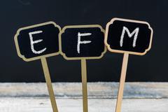 Business acronym EFM as Enterprise Feedback Management Stock Photos