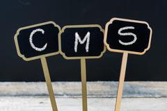 Business acronym CMS as Content Management System Stock Photos