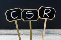 Business acronym CSR as Corporate Social Responsibility Stock Photos