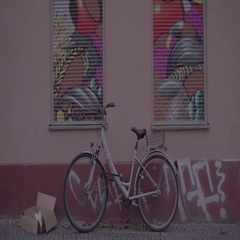 Berlin Colorful Wall and Bike 4K Stock Footage