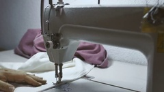 Sewing Machine Close up. Stock Footage