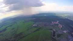 Tandem jump and free fall, editorial Stock Footage