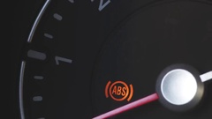 Car tachometer idling Stock Footage