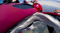 Skydivers jump out of airplane, editorial Stock Footage
