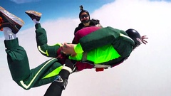 Skydiver in free fall, editorial Stock Footage