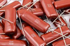 Electronic Capacitor Batch Stock Photos