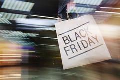 Shopping on Black Friday Kuvituskuvat