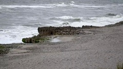 Jupiter Beach on a cloudy afternoon, Florida Stock Footage