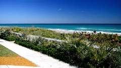 Pam Beach coastline, beautiful view of Florida Stock Footage