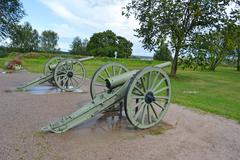 Antique cannon in Lappeenranta Stock Photos