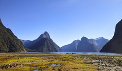 View Of Milford Sound In New Zealand's South Island Stock Photos