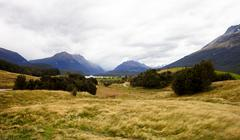 Landscape Near Queenstown In New Zealand's South Island Stock Photos