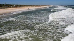 Beach of St Augustine, Florida Stock Footage