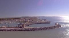 Port of Marina di Pisa, aerial view Stock Footage