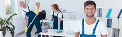 Housekeeping in the office Stock Photos